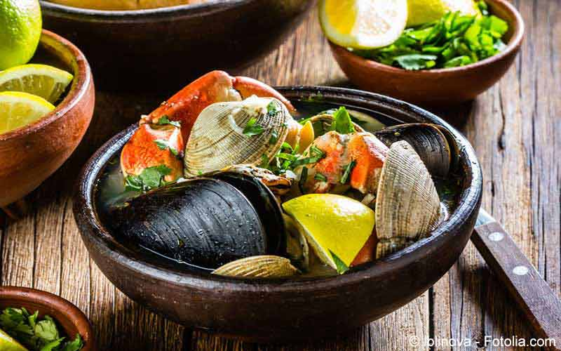 Kalorientabelle Fisch und Muscheln
