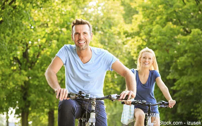 Paar Fahrradtour