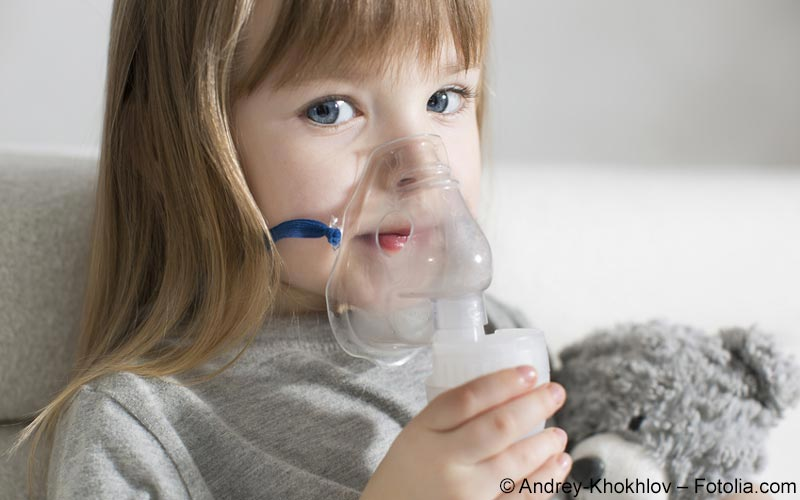 Kind mit Asthma