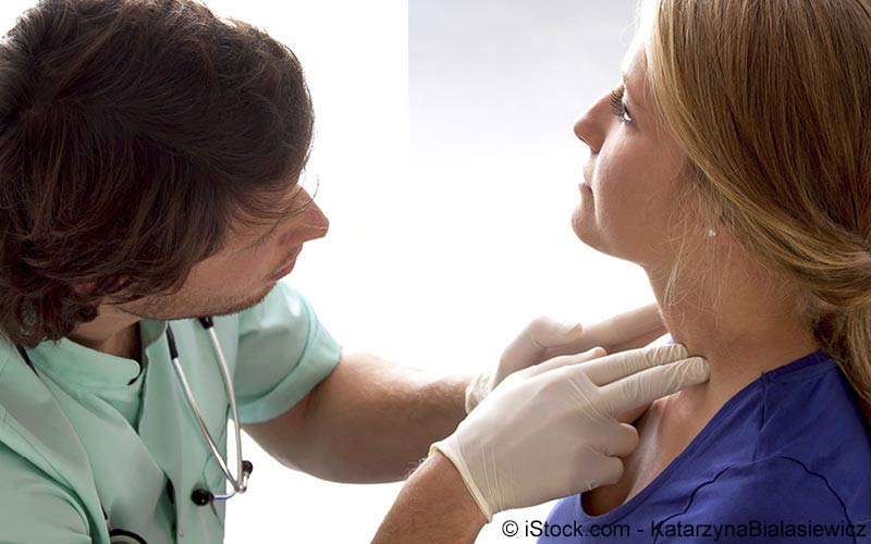 Lymphknoten Untersuchung beim Arzt