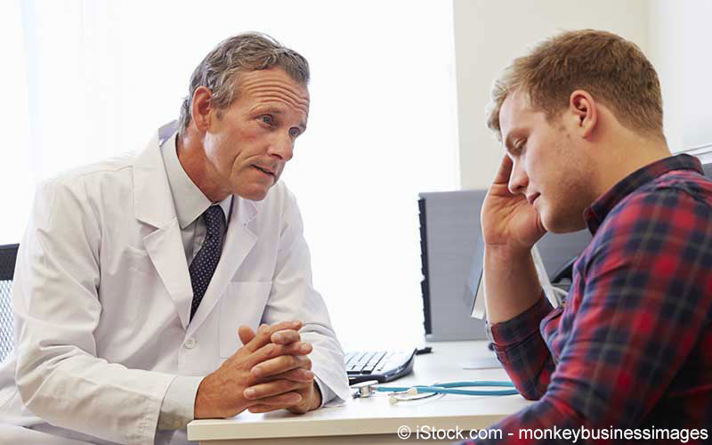 Arztgespräch junger Herr