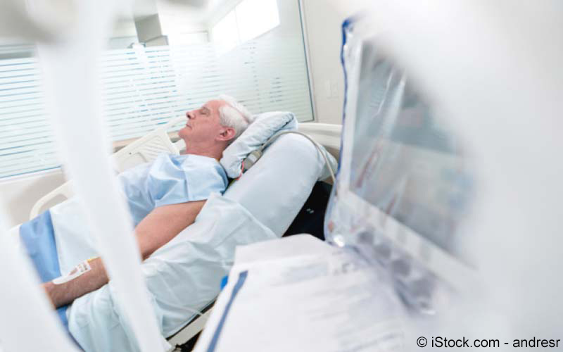 Mann im Krankenhaus